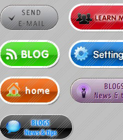 Free flash buttons template.